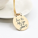 English letters love the life you love lettering womens necklace clavicle chain NHCU194868
