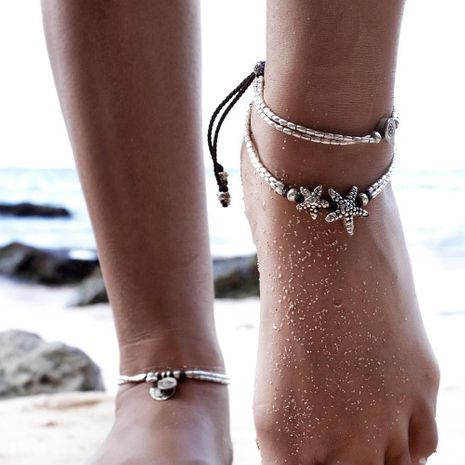 Starfish pendant anklet female retro rune yoga pendant anklet anklet NHCU194870's discount tags
