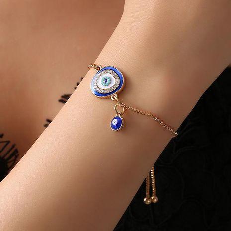 Bangle Flash Diamond Devil Eye Bracelet Bracelet Bracelet Eye Bracelet Wholesale NHCU194876's discount tags