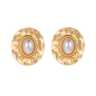 Female temperament round twist pearl earrings earrings earrings wholesale NHCU194927's discount tags