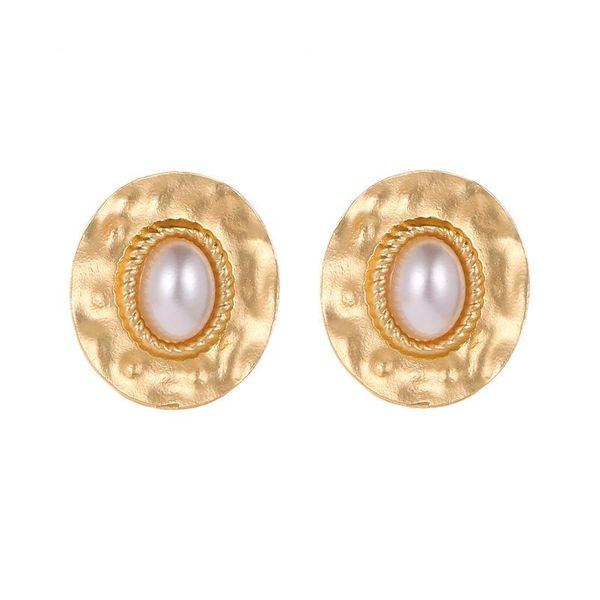 Female temperament round twist pearl earrings earrings earrings wholesale NHCU194927