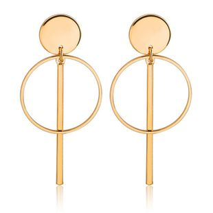 Hollow tassel earrings earrings geometric round cake circle word stick earrings women NHCU194935's discount tags