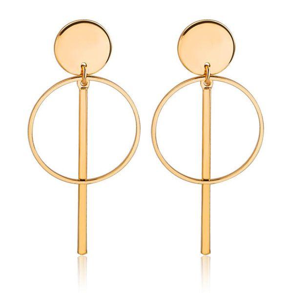 Hollow tassel earrings earrings geometric round cake circle word stick earrings women NHCU194935
