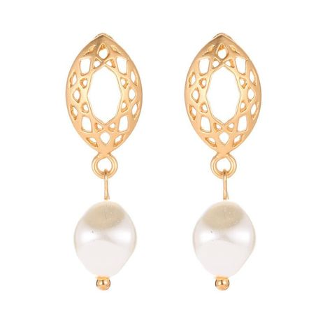 Aretes de malla geométrica ovalada aretes temperamento  aretes de perlas mujeres NHCU194938's discount tags