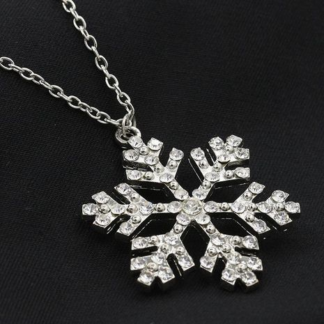 Diamond Crystal Snowflake Pendant Necklace Sweater Chain Christmas Gift Snowflake Necklace NHCU194959's discount tags
