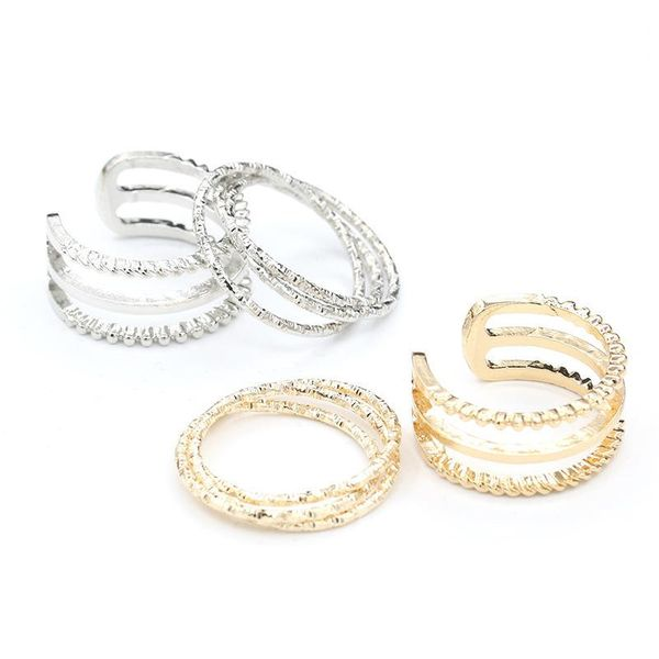 Geometric circle letter U-shaped ring ring multi-layer openwork ring NHCU194966