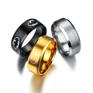 Unisex grabado en forma de diamante de acero titanio Anillos TP190418118114