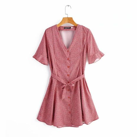 Wholesale 2020 spring printed vintage dress NHAM194974's discount tags