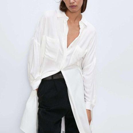 Spring Long Blouses Women's Long Shirts NHAM194986's discount tags