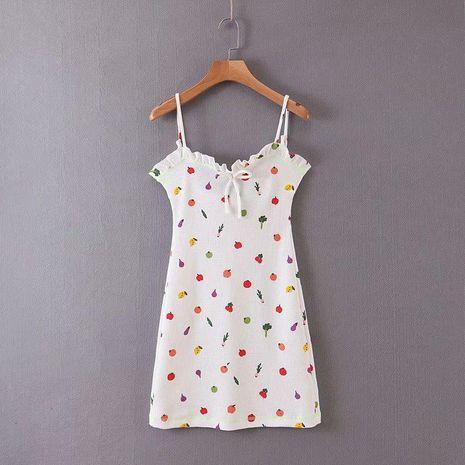 Wholesale fruit print camisole dress NHAM194987's discount tags