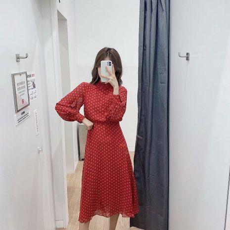 New Fashion Slim Long Print Dress NHAM195006's discount tags