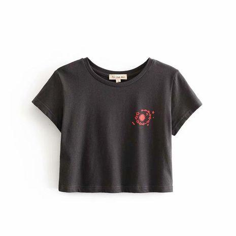 Camiseta de manga corta con estampado de sol y luna al por mayor NHAM195011's discount tags