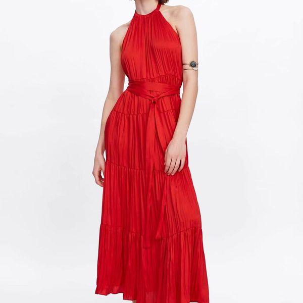 New Women's Halter Collar Dress Wholesale NHAM195037
