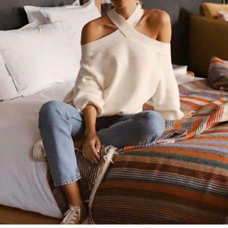 Suéteres flojos al por mayor sueltos de invierno de dos colores para mujer NHAM195038's discount tags