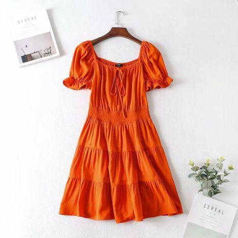 Wholesale winter ruffle sleeve cotton linen dress NHAM195114's discount tags