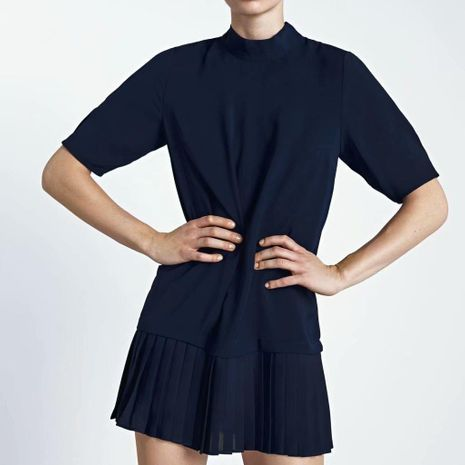 Wholesale winter pleated skirt dress NHAM195115's discount tags