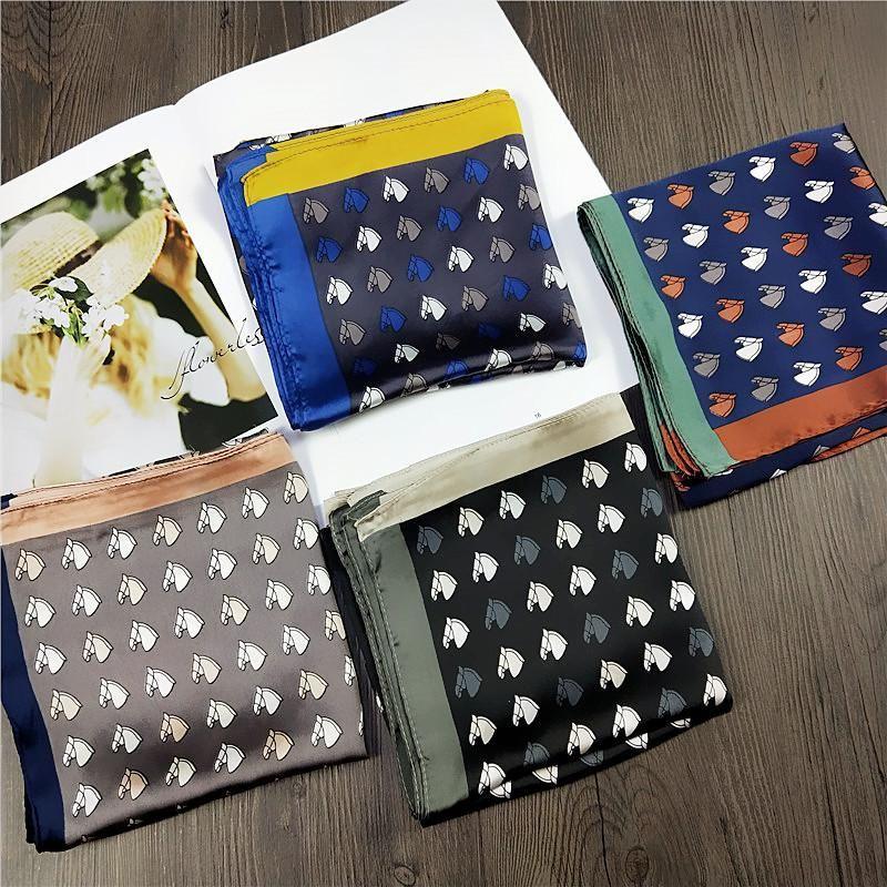 Bufanda cuadrada de seda artificial bufanda pequeña bufanda coreana salvaje  NHMN195171