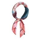 Geometric small scarf female Korean turban work professional scarf NHMN195176