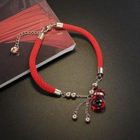 Nueva pulsera de cuerda roja pulsera de doble anillo de calabaza de bronce de acero de titanio  NHIM195203's discount tags