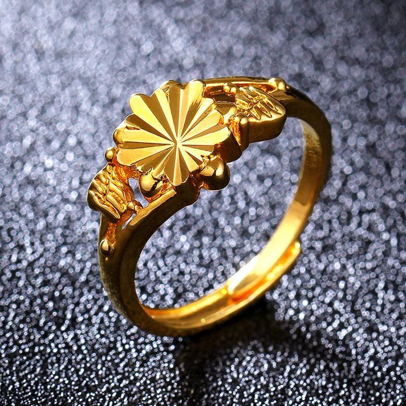 Anillo de oro de imitación de moda 18KGP NHIM195211