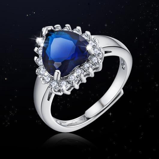 Magnifiquement incrust AAA Zircon Fashion Heart Ring NHLJ195237