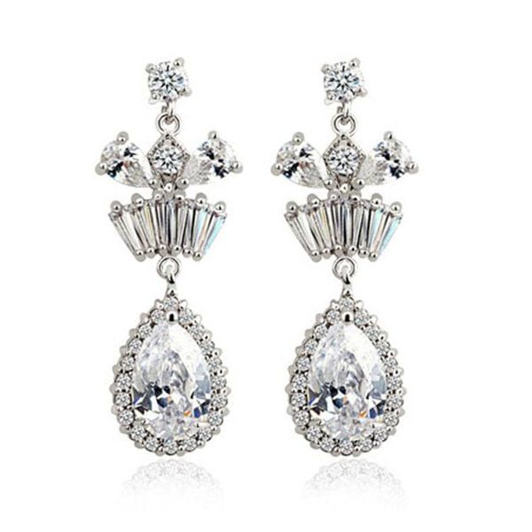 New style exquisite AAA zircon earrings fashion dinner bridal jewelry wholesale NHLJ195240