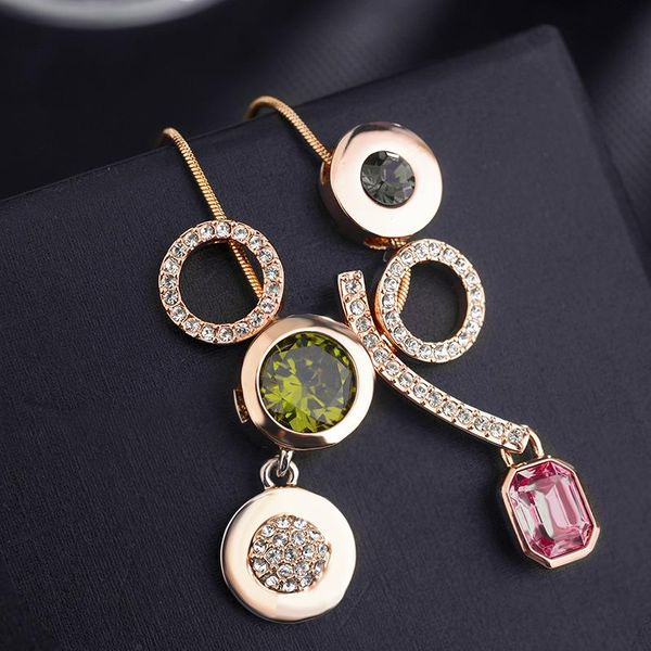 Collar de cristal austriaco de lujo de moda NHLJ195246