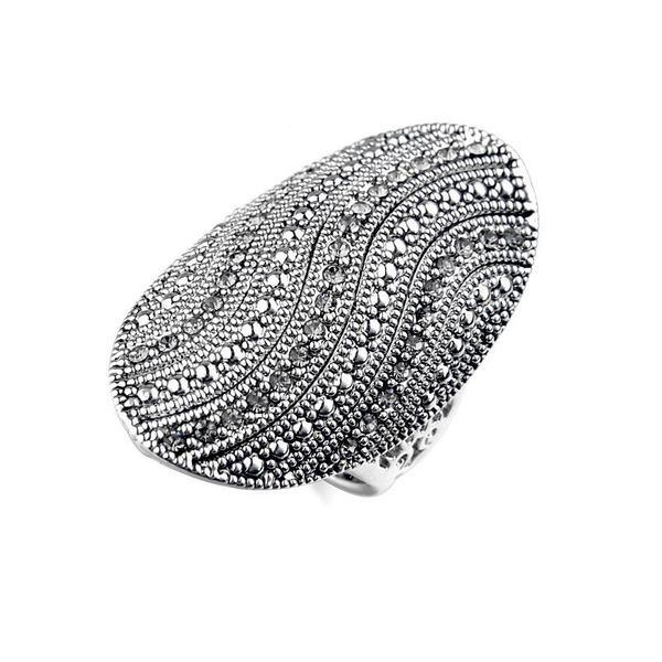 Retro full diamond long ring exaggerated alloy bracelet wholesale NHLJ195247