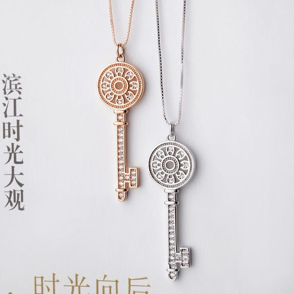 Women's short necklace with key necklace NHLJ195260