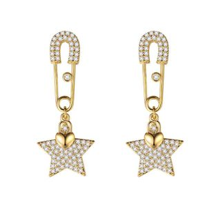 Fashion personality wild silver pin five-pointed star earrings NHLJ195264's discount tags