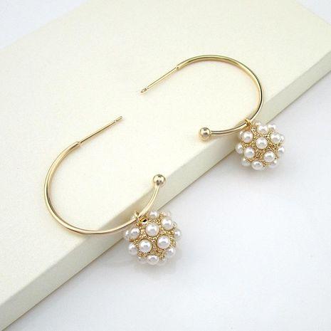 Nuevo colgante de bola de perlas aretes salvajes de moda al por mayor NHLJ195278's discount tags
