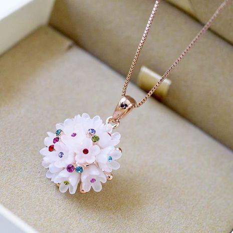 Collier en cristal de fleur de couleur Hot Wholesale NHLJ195280's discount tags