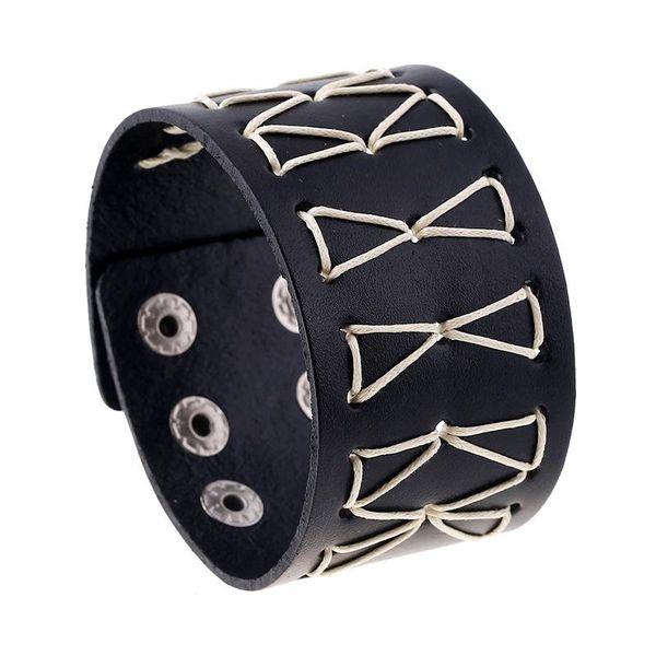 Punk Vintage Woven Leather Bracelet Men's Bracelet NHPK195296