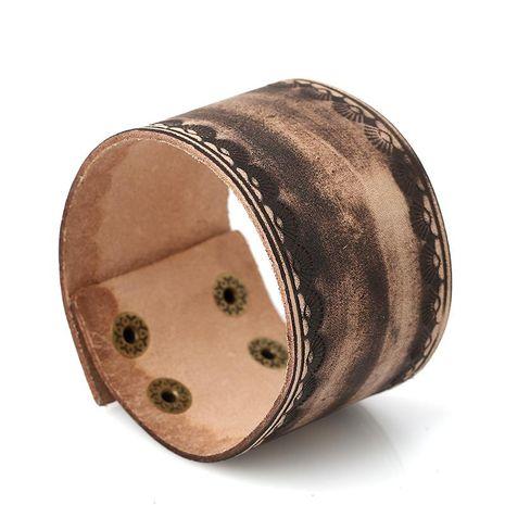 Pulsera de cuero de marca retro de cuero ancho punk NHPK195300's discount tags