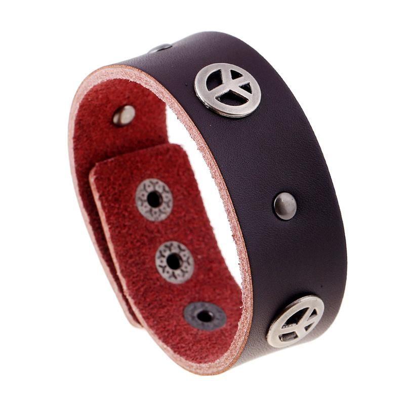 Men's Genuine Leather Bracelet NHPK195302