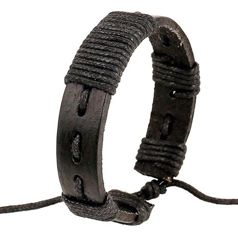 Pulsera de cuero hecha a mano pulsera de cuero pulsera tejida NHPK195309's discount tags