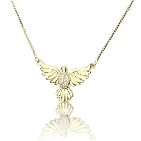 Hot sale zirconium holy spirit bird necklace fashion new copper plating pendant NHBP195311's discount tags