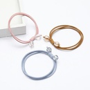 Korean fashion simple multilayer elastic rubber band double crystal hair rope women NHJE195348