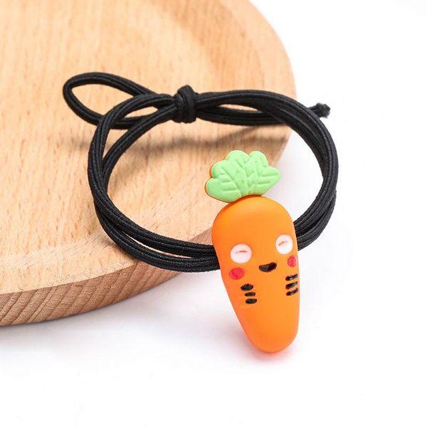 Cute resin carrot elastic hair rope bracelet dual purpose NHJE195349