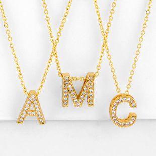 Nuevos accesorios Collar de letras Diamante Colgante de letras Collar de pareja NHAS195355's discount tags