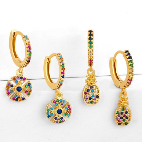 New Earrings Fruit Pineapple Earrings Hot Accessories Wholesale NHAS195356's discount tags