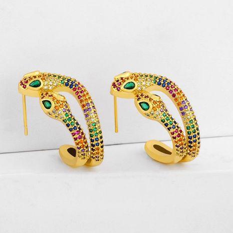 earrings double head snake earrings creative exaggerated animal earrings wholesale NHAS195372's discount tags