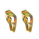 earrings double head snake earrings creative exaggerated animal earrings wholesale NHAS195372