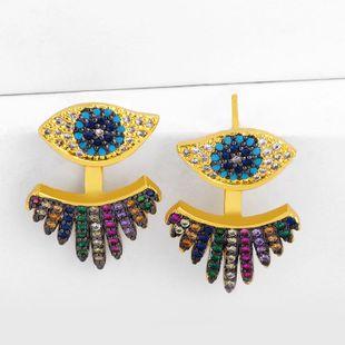 Nuevos Aretes Micro-Set Fancy Diamond Blue Eye Stud Pendientes NHAS195373's discount tags