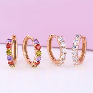 Aretes populares para mujer con pendientes geométricos de circonitas de colores NHAS195374's discount tags
