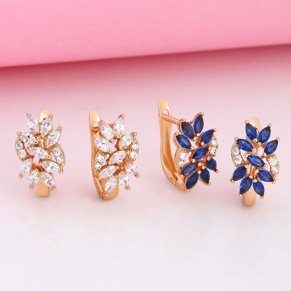 New jewelry high quality zircon earrings jewelry wholesale NHAS195376