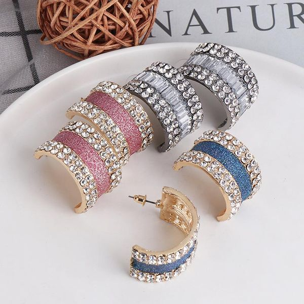 Fashion earrings high-end accessories C-shaped semi-circular earrings NHJJ195429