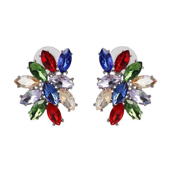 Earrings Geometric Luxury Diamond Stud Earrings Fashion Exaggerated Earrings NHJJ195430