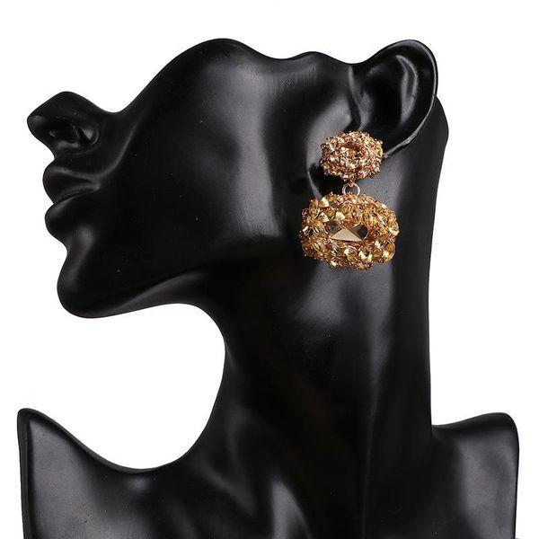 Earring Geometry Luxury Diamond Stud Earring Trendy Exaggerated Earrings NHJJ195431
