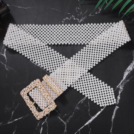 Alliage perle ceinture mode sauvage ceinture exagérée accessoires vestimentaires NHJQ195442's discount tags